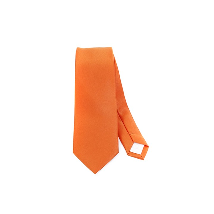 SY-2501-or11-SPST-Orange-PolySolidSlimTie-57X2.75-Retail$7.48