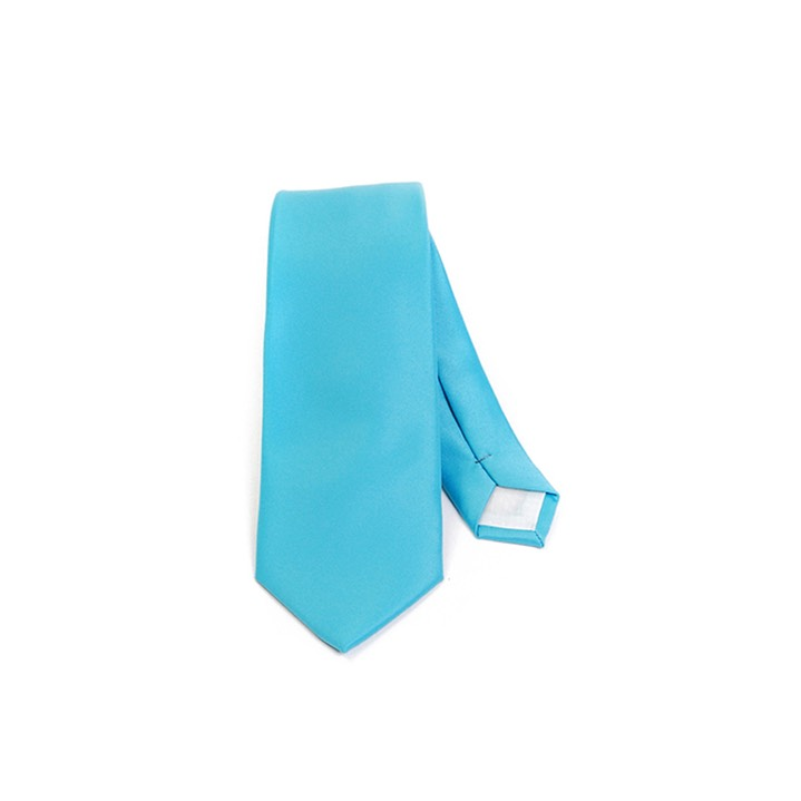SY-2501-tq11-SPST-Turquoise-PolySolidSlimTie-57X2.75-Retail$7.48