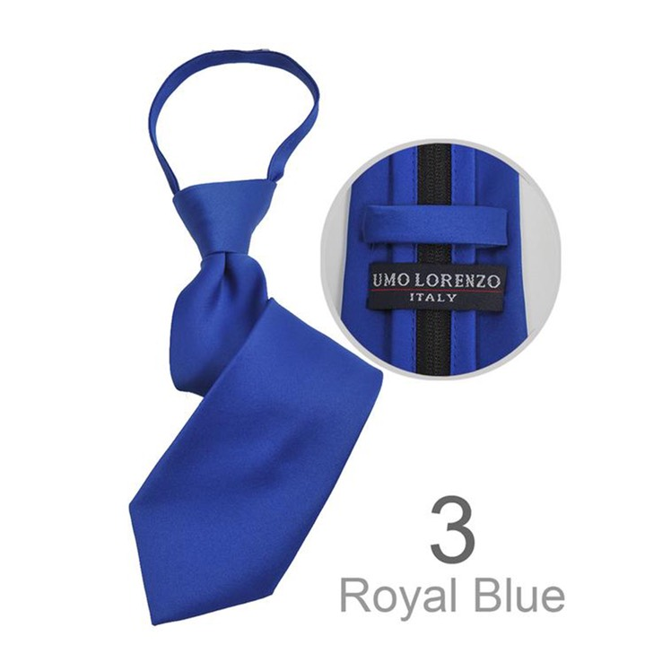 SY-BSZ-1000-3-RoyalBlue-PolyesterBoy'sSatinSolidZipperTies-Retail$9.98
