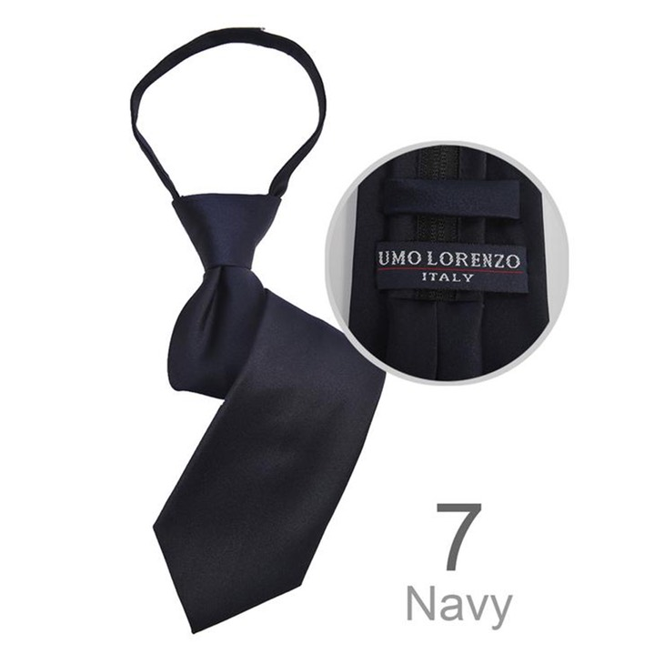 SY-BSZ-1000-7-Navy-PolyesterBoy'sSatinSolidZipperTies-Retail$9.98