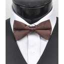 SY-BT-13012-Brown-Men'sBowTies2.5'PolySatinBanded-Retail$4.82