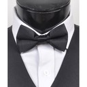 SY-BTC-17011-Black-Men's2.5'PolySatinBandedClipOnBowTies-Retail$4.82