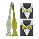 SY-FRBS-104-1-Lime-36.5x2.5-100%SilkPlaidReversableFreestyleBowTies-Retail$16.32