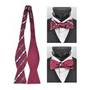 SY-FRBS-104-2-Red-36.5x2.5-100%SilkPlaidReversableFreestyleBowTies-Retail$16.32